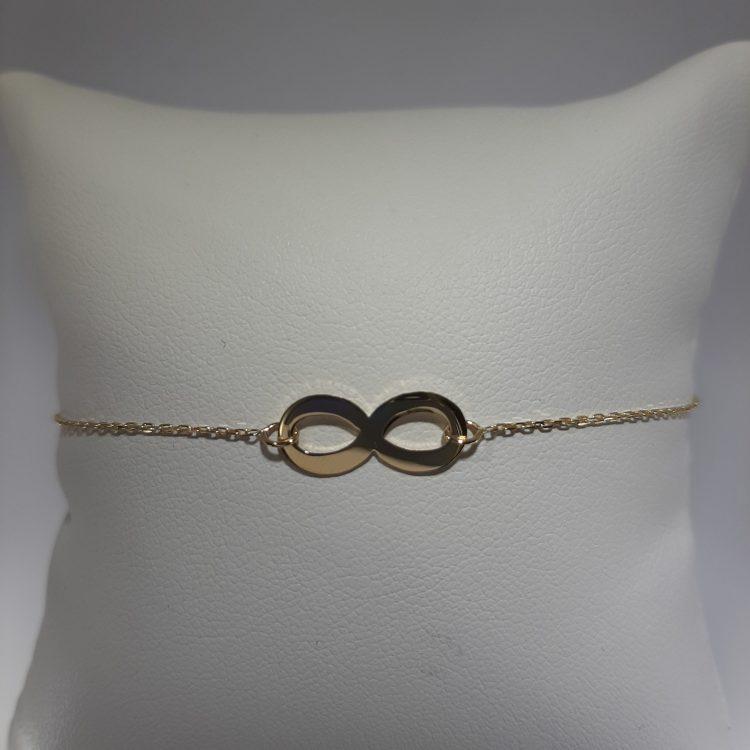 Bracelet infini en or jaune 18k