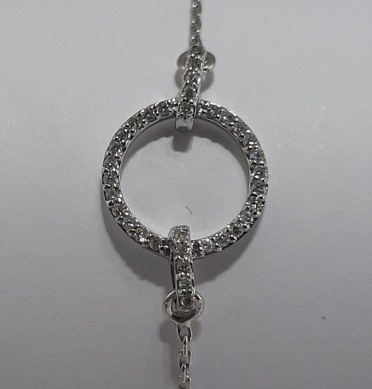 Bracelet cercle pavage diamants